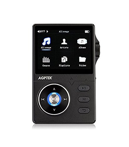lution Lossless Music Player, 2.4 Inch HD Display, 8 GB Supports up to 64GB, Black (Slide Volume Control Knob)