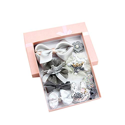 2019 New Fashion Cute Sweet Children's Princess Crown Bow Set of 10 Sets Sf Hair Clip Jewelry,Outsta Jewelry Hot Sale!Under 5 Dollars Gifts for Her -