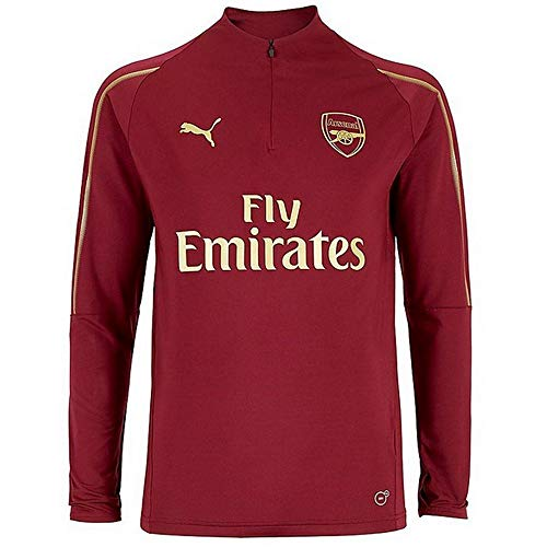 (PUMA 2018-2019 Arsenal Half Zip Training Top (Red))