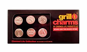 Charmed Life Products 6-Piece Grill Charms Set, The Charmed Life Collection