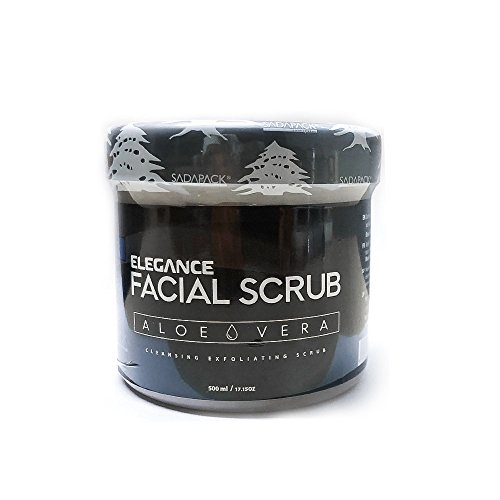 Elegance Facial Scrub Aloe Vera Cleansing Exfoliating Scrub Gently Removes Dirt Excess Oil & Black Heads For Smoother Softer Healthier Glowing Skin (Scrub Aloe)