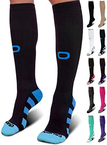Crucial Compression Socks for Men & Women (20-30mmHg) Running, Athletic, Travel