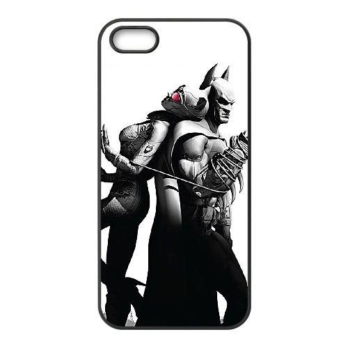 Catwoman 003 coque iPhone 5 5S cellulaire cas coque de téléphone cas téléphone cellulaire noir couvercle EOKXLLNCD22701