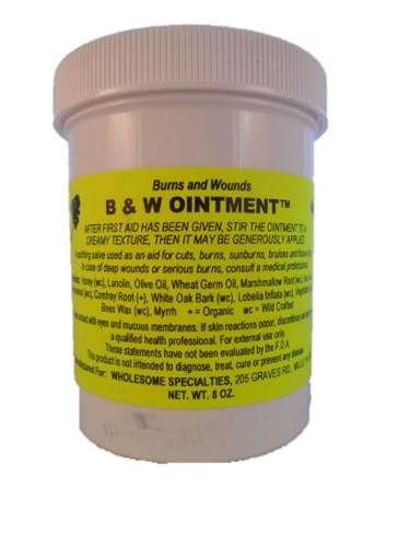 B & W (Burn and Wound) Ointment, 8 Oz. Container