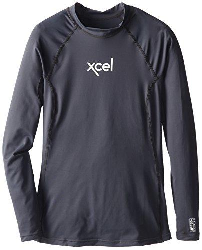 Xcel Women's Premium 6-Ounce Long Sleeve Top, Metal Grey, 14
