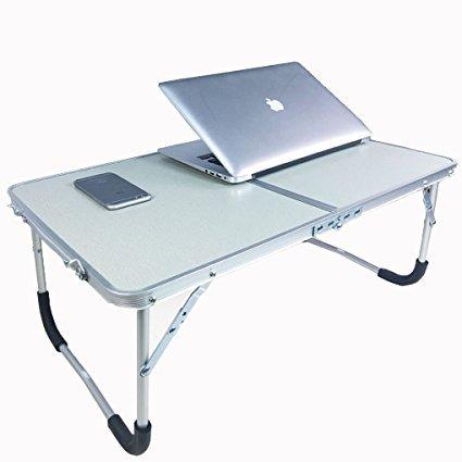 Gran mesa de cama ordenador ajustable soporte para portátil escritorio PC inclinable bandeja de desayuno Tablet lectura libros debout con patas plegable ...