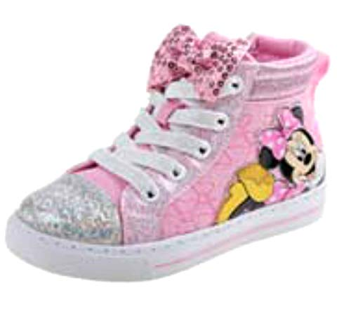 Image of Josmo Kids Baby Girl's Minnie Bow High Top (Toddler/Little Kid) Pink 9 M US Toddler M