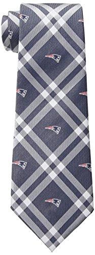 NFL New England Patriots Men's Woven Polyester Rhodes Necktie, One Size, Multicolor
