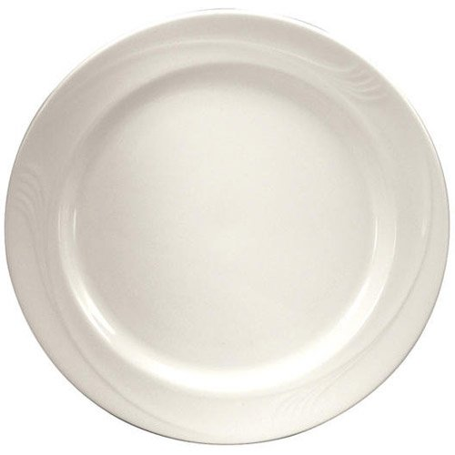 Oneida Foodservice F1040000125 Espree Plate, 7.25'', Cream White Porcelain, Set of 36 by Oneida Foodservice (Image #1)
