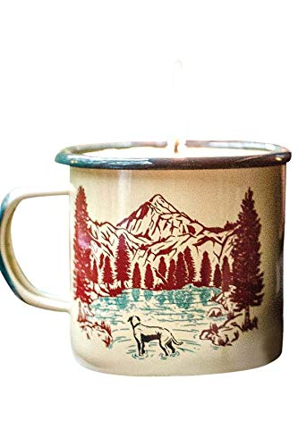 United By Blue - Off Leash Enamel Candle Mug 12oz - 9oz Soy Candle