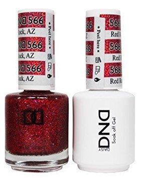 DND Gel & Matching Polish Set #566 - Red Rock, AZ. Buy 5 any colors get 1 Diamond super fast drying top coat 0.5 oz Free by DND - Mall Az