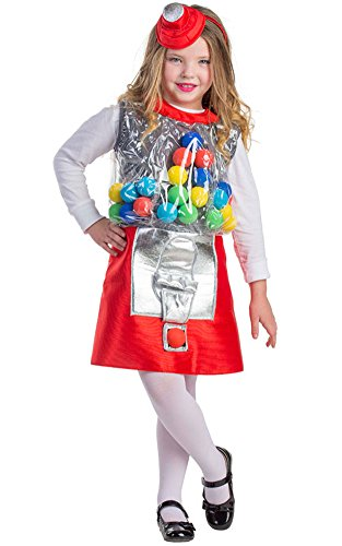 Dress Up America Gumball Machine Costume - Size Toddler 4