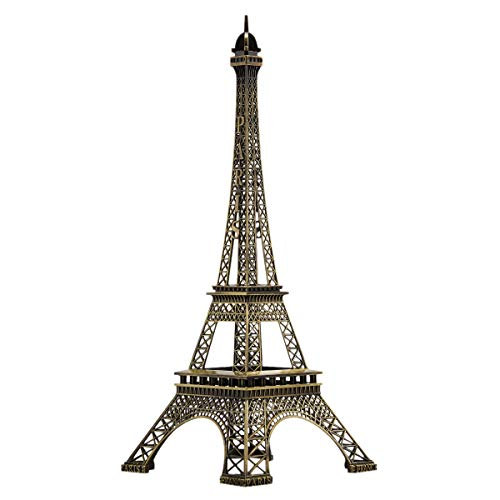 Juvale 15 Inch Eiffel Tower Statue Decor for Centerpiece Table -