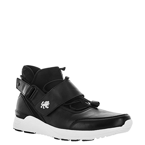 Vlado Footwear Mens Dean Neoprene, Materiale Uomo Bianco Sneaker Mid Top Bianco Nero