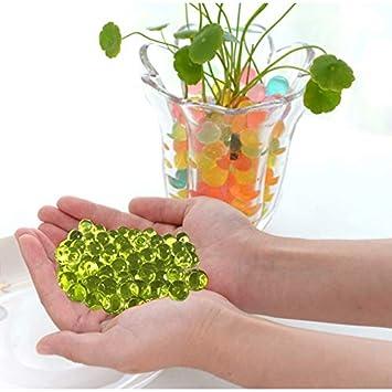 Fenghezhanouzhou 1000 UNIDS Decoraci/ón del Hogar En Forma de Perla de Cristal Suelo Agua Bolas de Gel Bio para Flor//Desbroce de Barro Crecen Bolas de Jalea Color : Verde