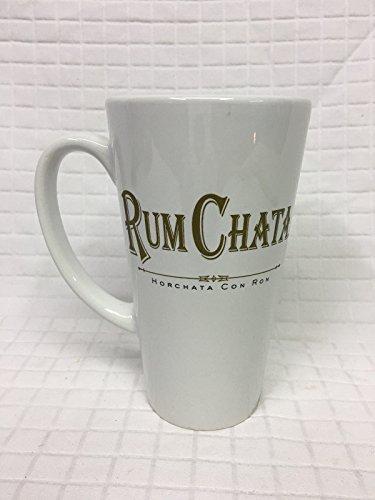 Set of 4 Rum Chata Horchata Caribbean Rum Liqueur White Polcelain Ceramic Coffee Mugs Cups Glasses