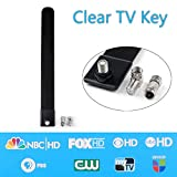 Areyourshop Clear TV Key Antenna Clear Digital HDTV Indoor Antenna Cable As Seen On TV