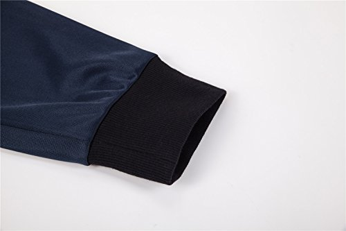 UNACOO Boys Active Basic Jogger Breathable Fleece Lined Pants (Navy, XL(11-12T)) by UNACOO (Image #4)