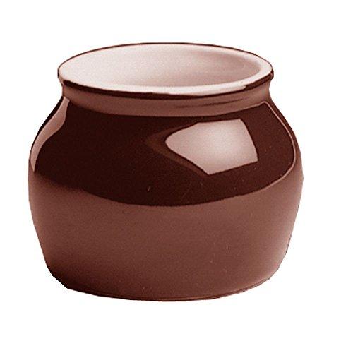 Hall China 461-BR Brown 7 Oz. Boston Bean Pot w/o Cover - 24 / CS