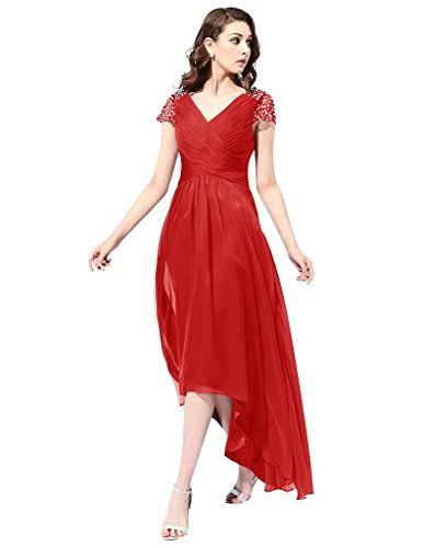 JYDress - Robe - Plissée - Femme -  rouge - 46
