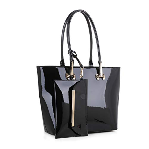 Tenesha Patent Tote with Wristlet by Mia K. Farrow