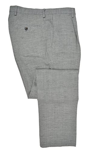 Banana Republic Heritage Men's Wool Linen Slim Fit Pleated Pants Light Grey 33W x -