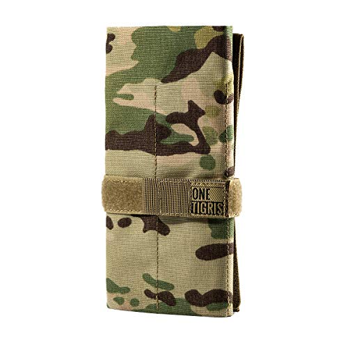 OneTigris Tactical Roll-up Tool Pouch with12 Pockets - Hand Tool Roll Organizer Storage Bag (Multicam)