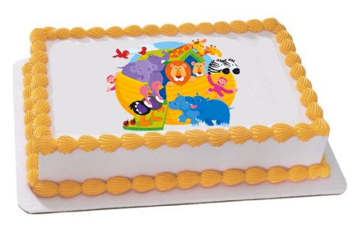 Noah's Ark Edible Cake Topper Decoration (Noah Ark Cake Toppers)