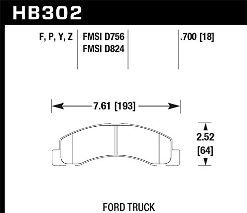 Hawk Performance HB302Y.700 LTS Brake Pad by Hawk (Image #2)