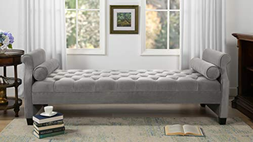 Jennifer Taylor Home, Sofa Bed, Opal Grey, Hand Tufted, Hand