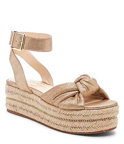 Jessica Simpson Women's APRILLE Sandal, Summer Gold, 6 M US (Jessica Leather Platforms)