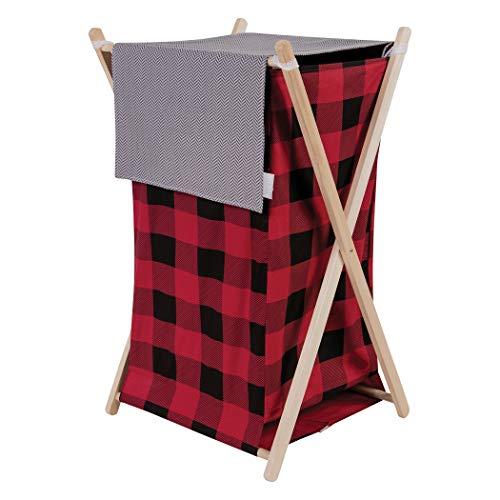 Trend Lab Red & Black Buffalo Check Hamper Set - Lumberjack Moose, Plaid, Northwood's