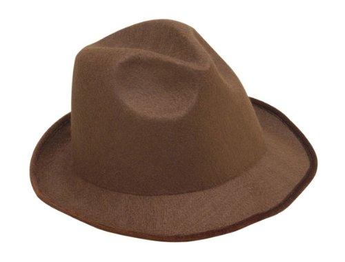 Forum Novelties Men's Night Out Novelty Adult Felt Fedora Hat, Brown, One Size