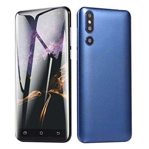 - Unlocked Smart Phone Dual HD 5.0 inch Camera Smartphone Android 6.0 WiFi GPS 3G Call Mobile Smart Phone Suitable for Facebook (Blue)