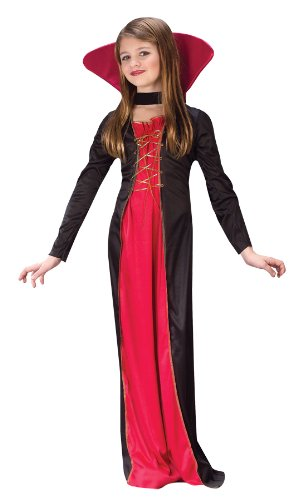 Victorian Vampiress Kids Costume - Halloween Costume For 11 Year Girl