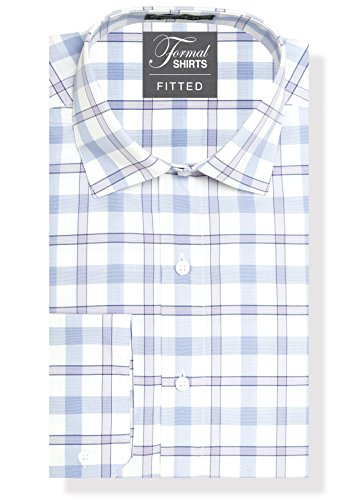 Luxe Microfiber Men's Fitted Spread Collar Dress Shirt - Style Jesse