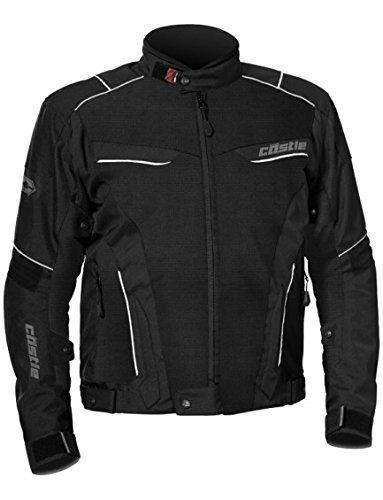- Castle Max Air Mens Motorcycle Jacket - Black - LG
