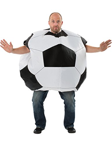 Soccer Ball Costume (Adult Mens Inflatable Football Novelty Funny Sports Stag Halloween Costume)