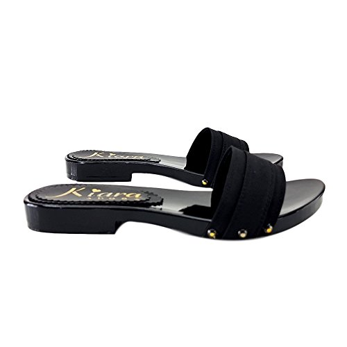 Laccati Nero kiara Zoccoli shoes Neri Bassi KV1501 tYtqfxw6n