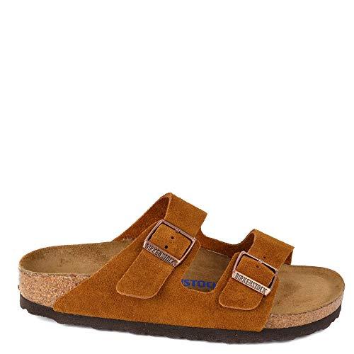 Birkenstock Women's Arizona 2-Strap Cork Footbed Sandal Mink 36 M EU