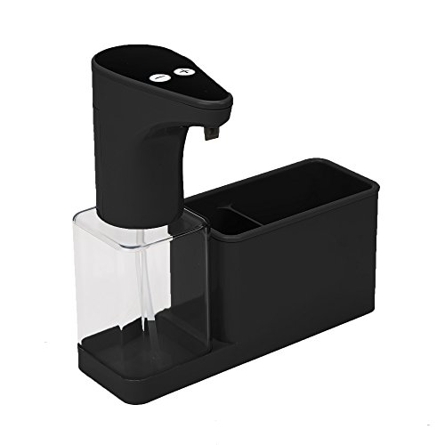 (Mind Reader Hands-Free Automatic Soap Dispenser Sensor Pump with Storage Compartment Caddy, 16.9 oz Capacity,)