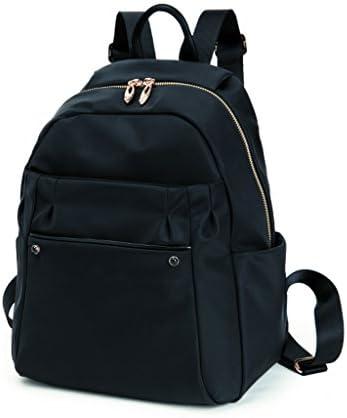 ガールバックパックキャンバスワイルドカジュアル旅行大容量旅行防水バックパック(黒色) (色 : Black)