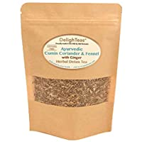 Ayurvedic Detox Cumin, Coriander and Fennel Tea with Ginger - Organic Detox Tea...