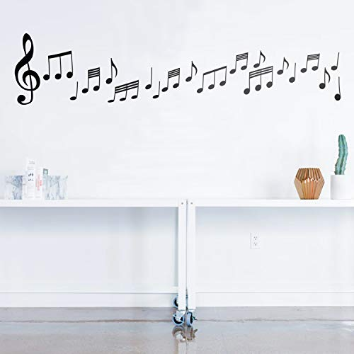 - Set of 20 Vinyl Wall Art Decals - Music Notes - from 6
