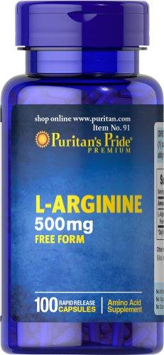 Puritan's Pride L Arginine 500 mg 100 Capsules