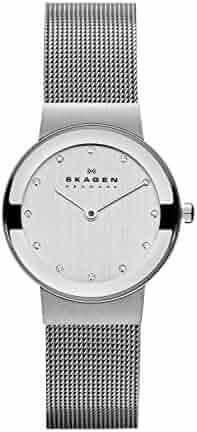 Skagen Women's 358SSSD Freja Stainless Steel Mesh Watch