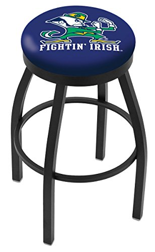 """30"""" L8B2B - Black Wrinkle Notre Dame (Leprechaun) Swivel Bar Stool with Accent Ring by Holland Bar Stool Company from Holland Bar Stool Co."""