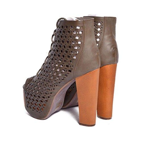 Jeffrey Campbell - Zapatos de vestir de Piel para mujer gris gris 36
