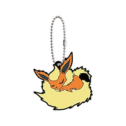 Bandai Pokemon Eevee Special Flareon Character Gacha Capsule Rubber Key Chain Mascot Collection Anime Art Ver.2 (Pokemon Mystery Dungeon Explorers Of Sky Lucario)