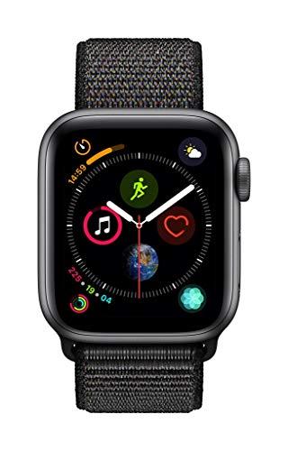 AppleWatch Series4 (GPS, 40mm) - Space Gray Aluminium Case with Black Sport Loop